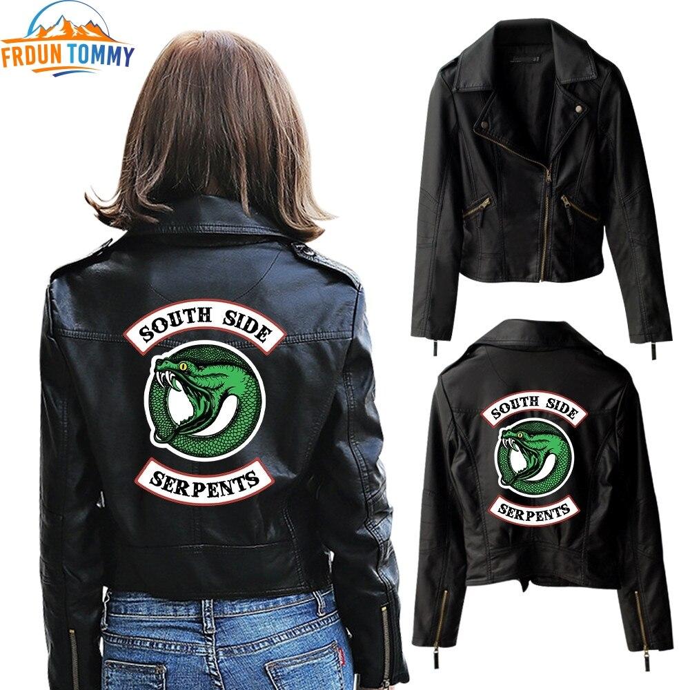 New Riverdale PU Jacket Printed Logo Southside Riverdale Serpents Jackets Women Leather Jacket Riverdale Serpents Streetwear