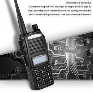 Image 2 - Walkie Talkie 50km 5W UV 82 Two Way Radio Station Transceiver Dual Band Communicator USB Charging Waterproof Walkie Talkie