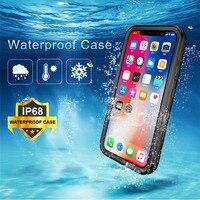 Caso impermeável para iphone x xs max xr à prova de choque natação mergulho coque capa para iphone x xr xs 6 s 7 8 plus caso subaquático