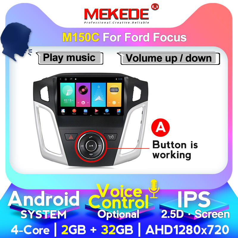 MEKEDE Car Android GPS <font><b>Navigation</b></font> Player for <font><b>Ford</b></font> <font><b>Focus</b></font> 3 Mk 3 2011 2012 <font><b>2013</b></font> 2014 2015 Auto Multimedia Radio Video 4G WIFI image
