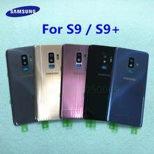 SAMSUNG Galaxy S9 Plus S9 + G965 SM-G965F S9 G960 SM-960F szklana tylna obudowa baterii naprawy pokrywa tylna klapka wymiana obudowy