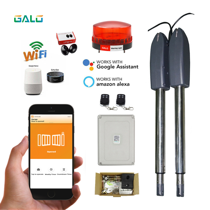 (Free 1pc Mask)WiFi Intelligent Electric Linear Actuator 400kg Engine Motor System Automatic Door Opener Motor Drive Engine Gate