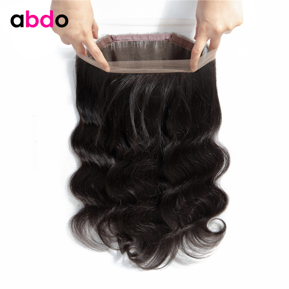 Body Wave 360 Frontal Closure 100% Human Hair Closure Malaysian Non Remy 360 Lace Frontal Closure With Baby Hair 20 22 Inch Abdo