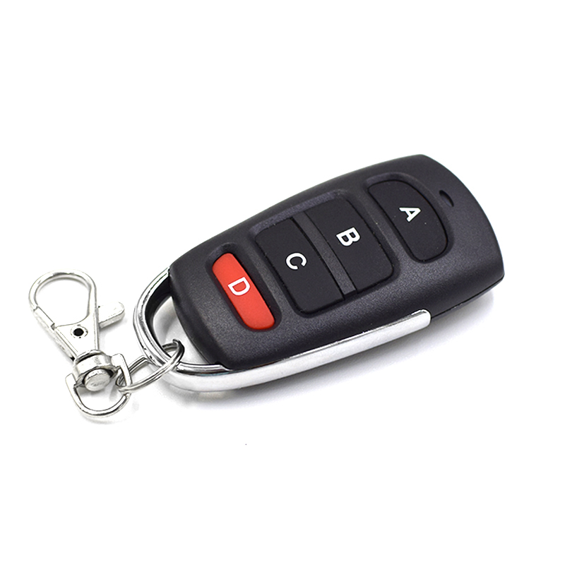 Duplicator 433.92MHz Remote Control Garage Door 4-channel Hand Transmitter Remotes Controller Fixed Code Controls To Clone