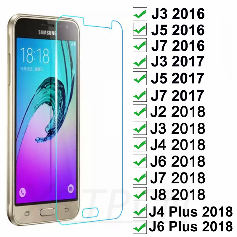 Tempered Glass On The For Samsung Galaxy J3 J5 J7 2015 2016 2017 Screen Protector For Samsung J2 J8 J4 J6 2018 Protection Film image