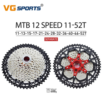 MTB Mountain Bike 9/10/11/12 Speed Freewheel Aluminium Alloy Flywheel 42/50/52T Freewheel Bicycle Cassette Flywheel Sprocket image