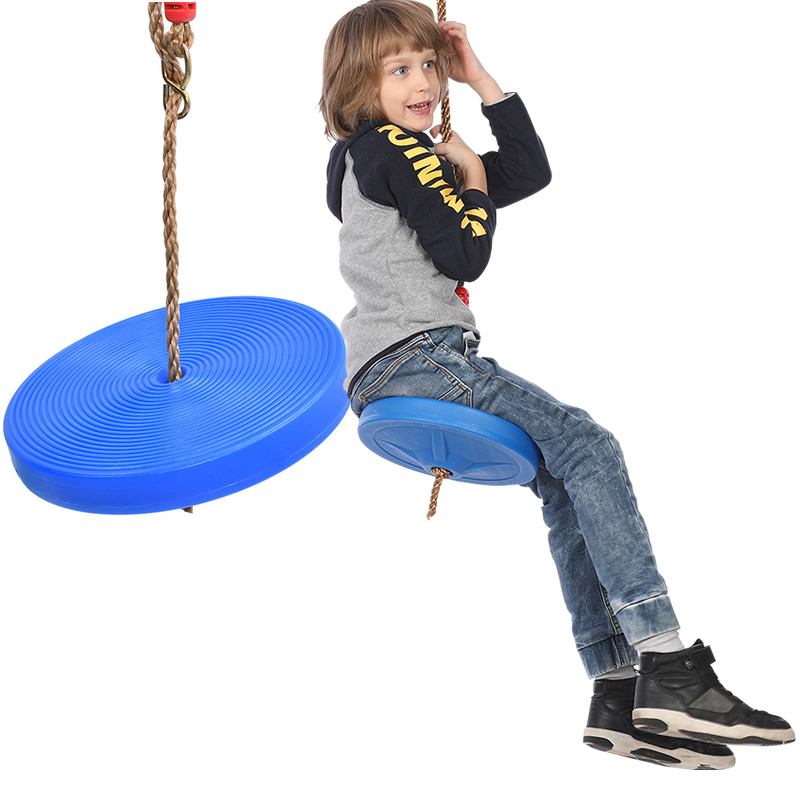 Children Swing Disc Toy Seat Kids Swing Round Rope Swings Outdoor Playground Hanging Garden Play Entertainment Activity  Descrip