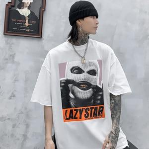 Image 5 - Camisa de algodão de algodão de manga curta de manga curta de impressão de harajuku mascarado de streetwear 2020