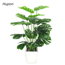 49cm Artificial Plants Green Monstera Leaves Tropical Palm Tree Leaves Home Garden Balcony Decoration Plastic Fake Plant Long artificial tropical palm leaves monstera leaves 7 leaves bouquet 70cm simulated green plant leaf for indoor home decoration