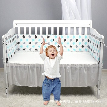 130*30cm Infant Baby Bedding Bumper bed guardrail surrounding children collision printing pattern cotton Safety Rails solid wood children beds with guardrail small infant bedside single widening and splicing kids bed