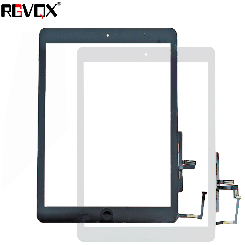 Original Touch Screen Digitizer For IPad 5 A1474 A1475 A1476 With Home Button Adhesive Black White 1PCS