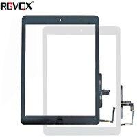 محول الأرقام بشاشة تعمل بلمس أصلي لجهاز iPad 5 A1474 A1475 A1476 مع لاصق زر المنزل أسود أبيض 1 قطعة|شاشات ولوحات LCD للأجهزة اللوحية|   -