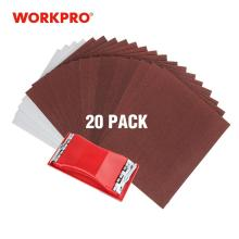 WORKPRO 24PC Sandpaper Multi Sanding Paper Abrasive Tools fo