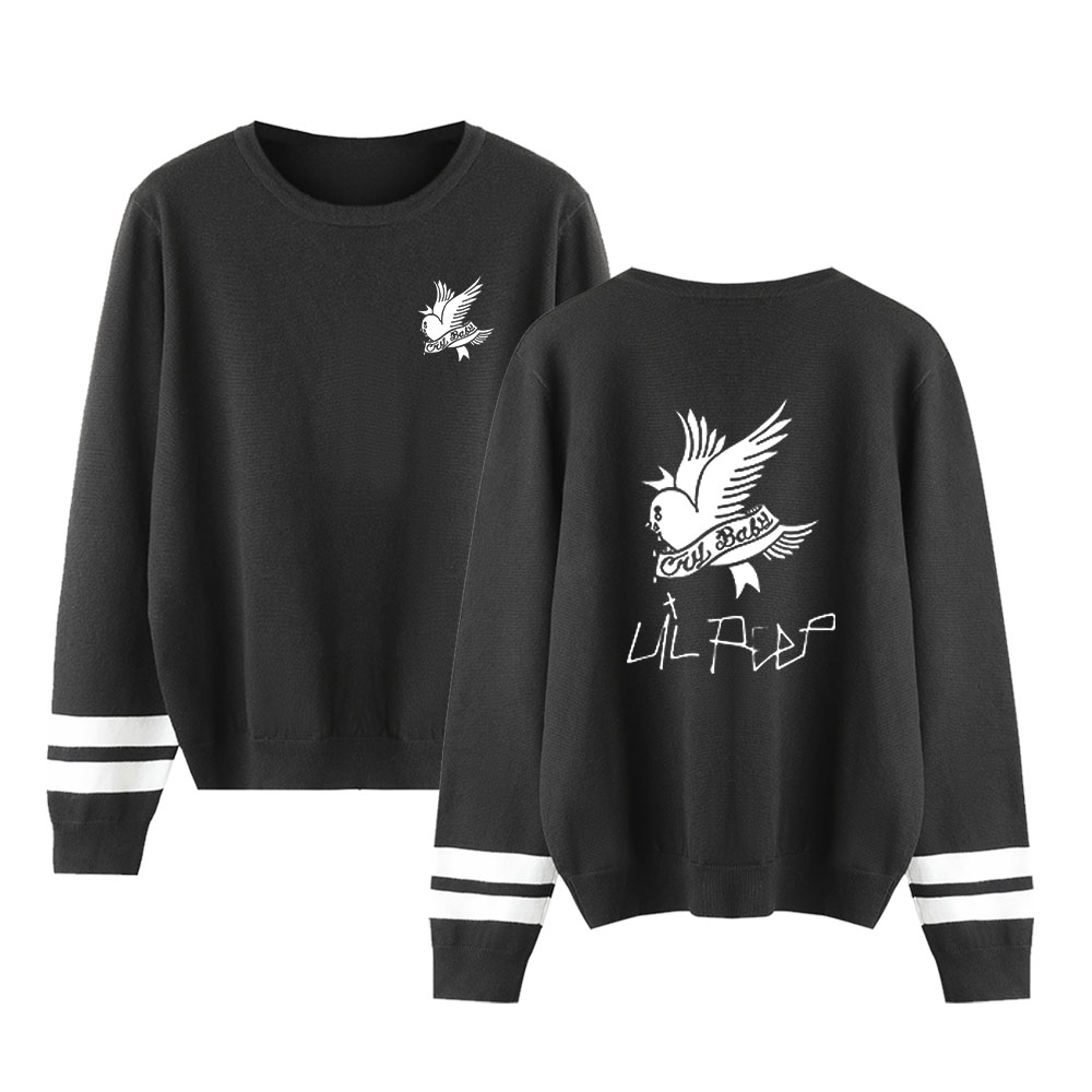 2019 New Lil Peep Sweater O-Neck Knittwear Autumn Casual Sweater Unisex High Quality Streetwear Pullovers Fashion Print Sweater