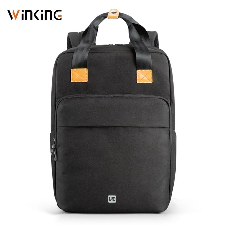 Kingsons Fashion Backpack 15.6 Inch Men School Laptop Backpacks Water Repellent Travel 14L Multi USB Charger Male Mochila