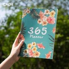 Kawaii flor 2020 2021 a4 plano mensal notebook organizador 365 dias diários diy planejador semanal bloco de notas kpop papelaria presente