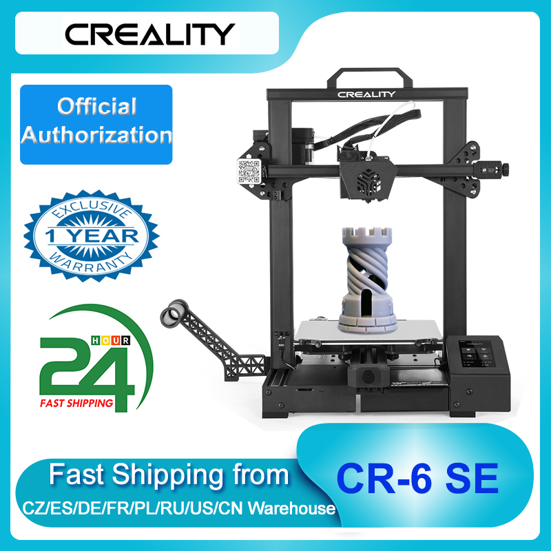 Creality 3D CR 6 SE Upgraded 3D Printer DIY Kit Printing Size 235*235*250mm 4.3in HD Color Touchscreen Silent Motherboard 3D Printers  - AliExpress