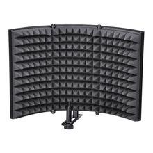 Складной Студийный микрофон изоляционный щит Звукопоглощающая пенная панель