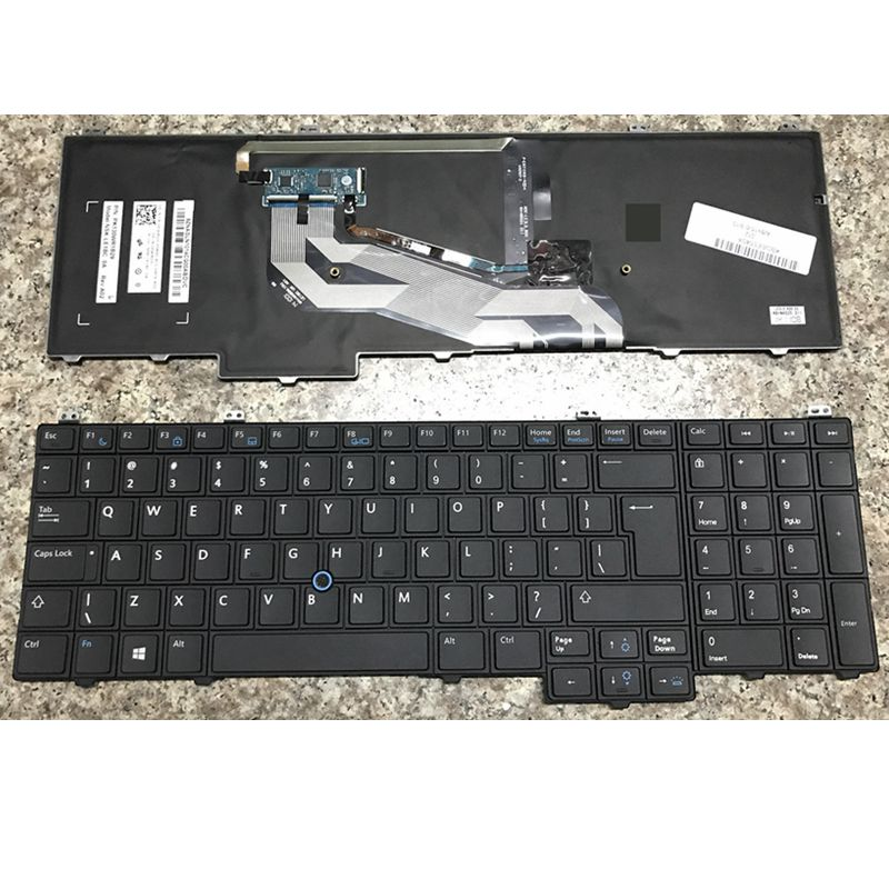 New Keyboard FOR DELL E5540 15-5000 US With Mouse Pole  Backlit Laptop Keyboard