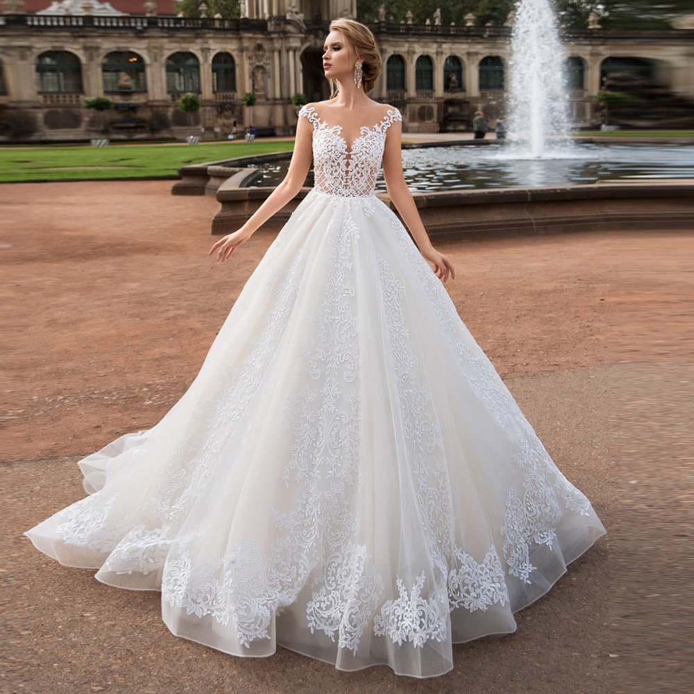 MANYUNFANG Vestidos De Novia New Arrival Soft Lace Robe Mariee Bride Dress Backless Wedding Gowns Sexy Bridal Dress