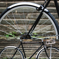 Guardabarros de bicicleta de carretera 1 par de bicicleta de fibra Retro 700C guardabarros de bicicleta piezas prácticas de plata Guardabarros     -