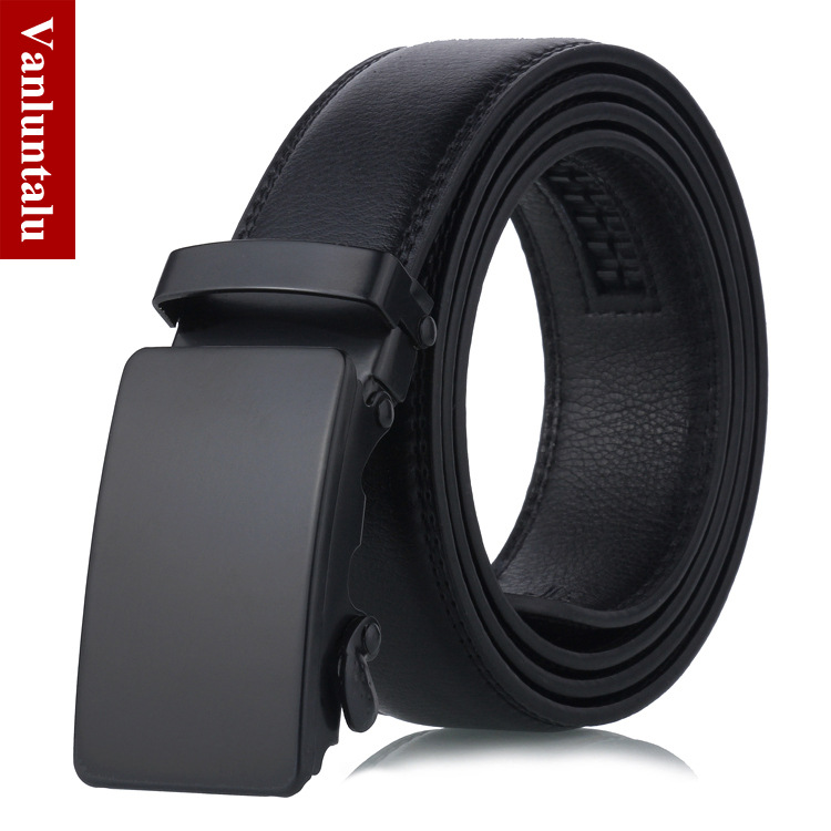 Men's Automatic Buckle Belt Young People  Fashion Black Simple Buckle Highgrade Luxury Business Belt Ceinture Homme P54