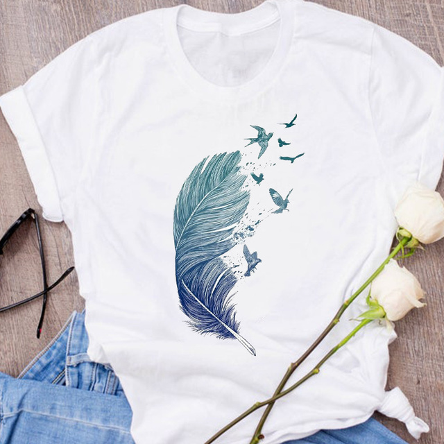 Women Graphic Fox Animal Cartoon Printing 90s Cute Short Sleeve 90s Print Clothes Lady Tees Tops Female T Shirt  Womens T-Shirt 6