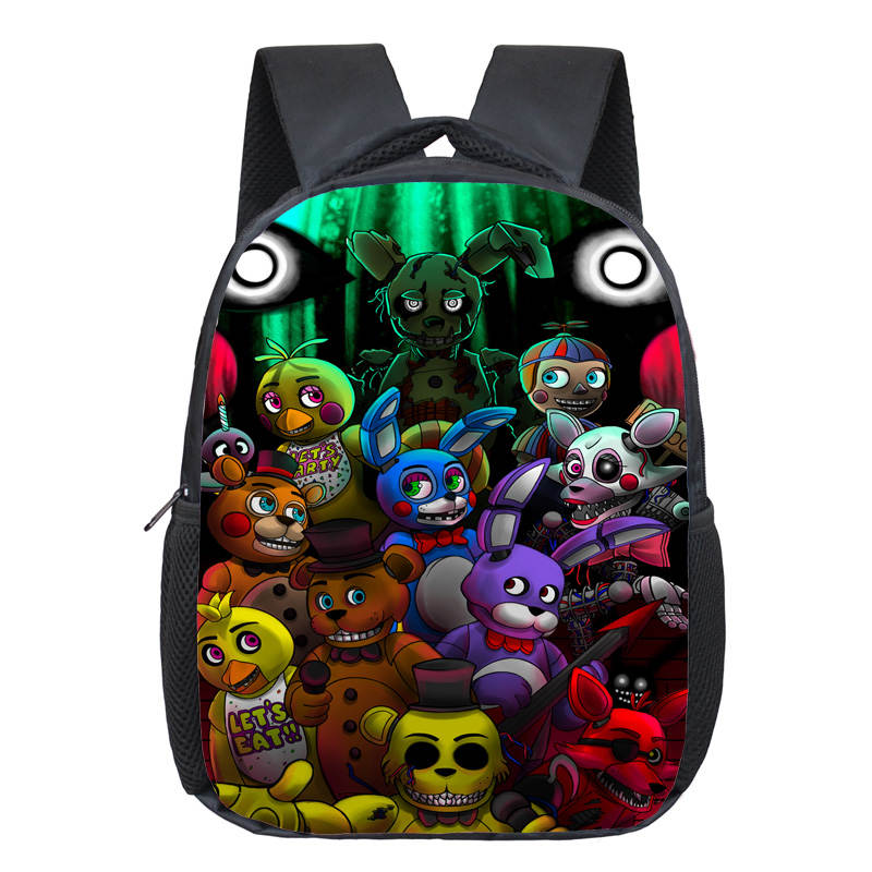 12 Inch Kids Five Nights At Freddys Backpacks Anime Fnaf Backpack Boys Girls School Bags Children Book Bag Mini Daily Backpack