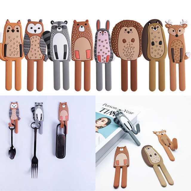 1Pc Cute Animal Fridge Magnets Fridge Sticker Multifunction Refridgerator Sticker Creative Magnet Hooks Home Decorations Sticker 3