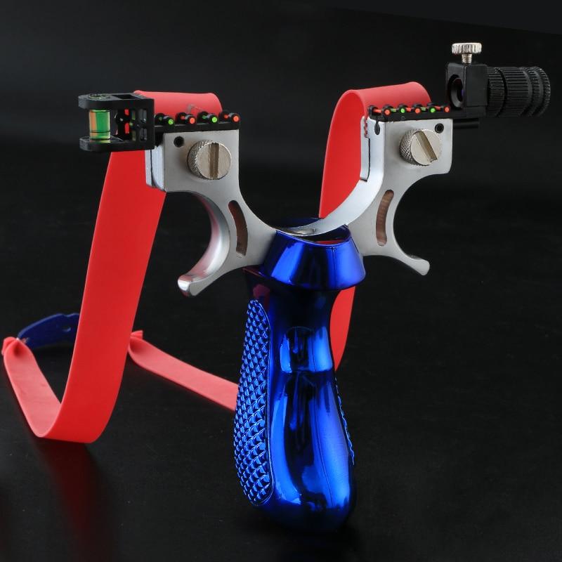 Fronde Laser avec bande en caoutchouc, haute précision, 98K, catapulte de tir puissante pour jeu de chasse en plein air 4