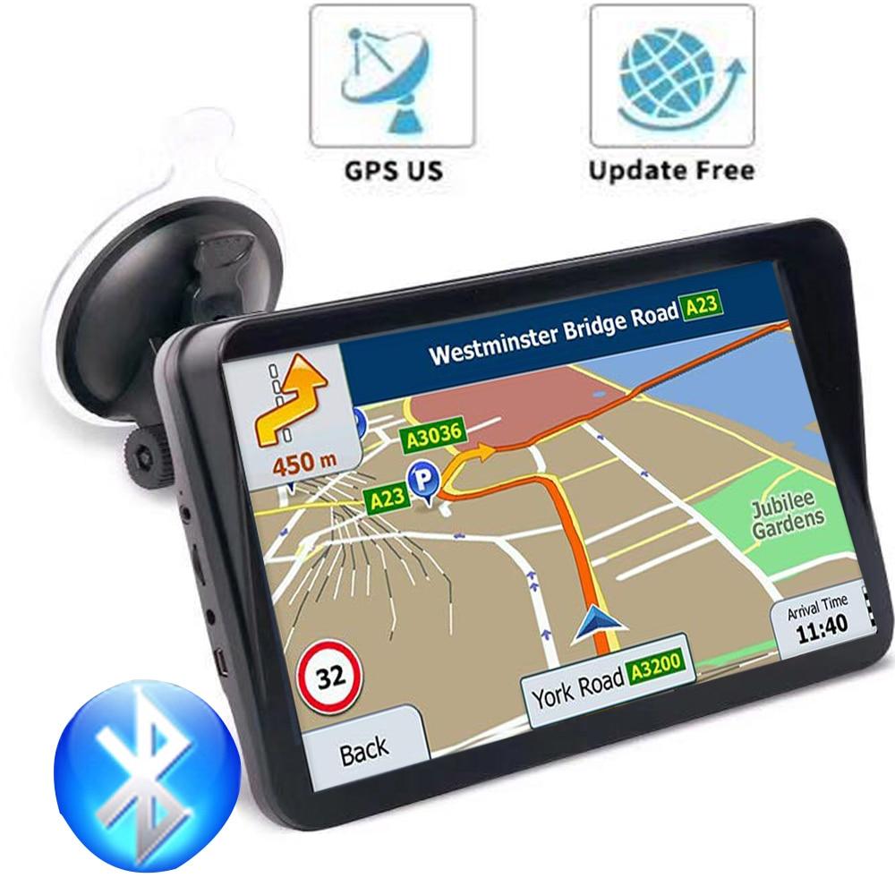 GPS voiture navigation dispositif 9 pouces HD condensateur lincoln navigutor256MB Bluetooth satellite navigation vocale Navitel dernière Europe