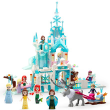Toys For Children Princess Ice Castle Model Kit Compatible Legoing Diy Assembled Educational Building Blocks Brick Kids Gift O08 lepin 15001 2413pcs brick bank model educational building kids blocks bricks legoing toy compatible with 10251 for gift