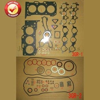 3GR 3GRFE Engine Full gasket set kit for Toyota Crown/Reiz 2.5L 3.0L Lexus IS/GS  3.0L 04111-0P100  04111-31560 50284500