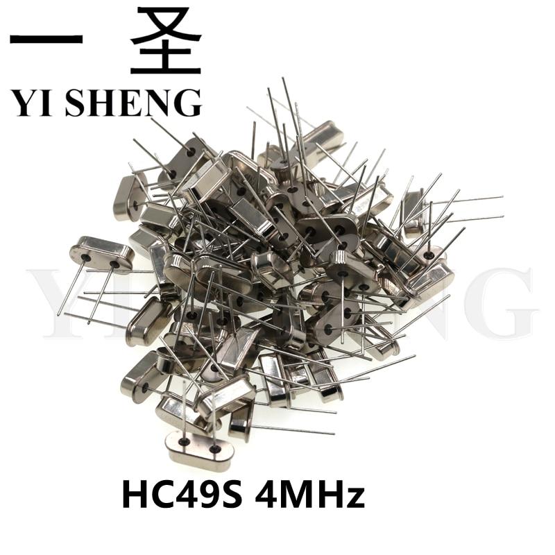 20pcs hc-49s 4MHz 4.000mhz HC49S 4M 20ppm 20pF quartz resonator