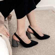2020 Spring Women Shoes Pumps Suede High Heels Shoe