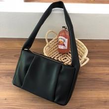 2020 موضة جديدة صغيرة التجاعيد النساء حقائب العلامة التجارية مصمم حقائب الإناث بولي Leather الجلود سستة السيدات حقيبة كتف على الكتف