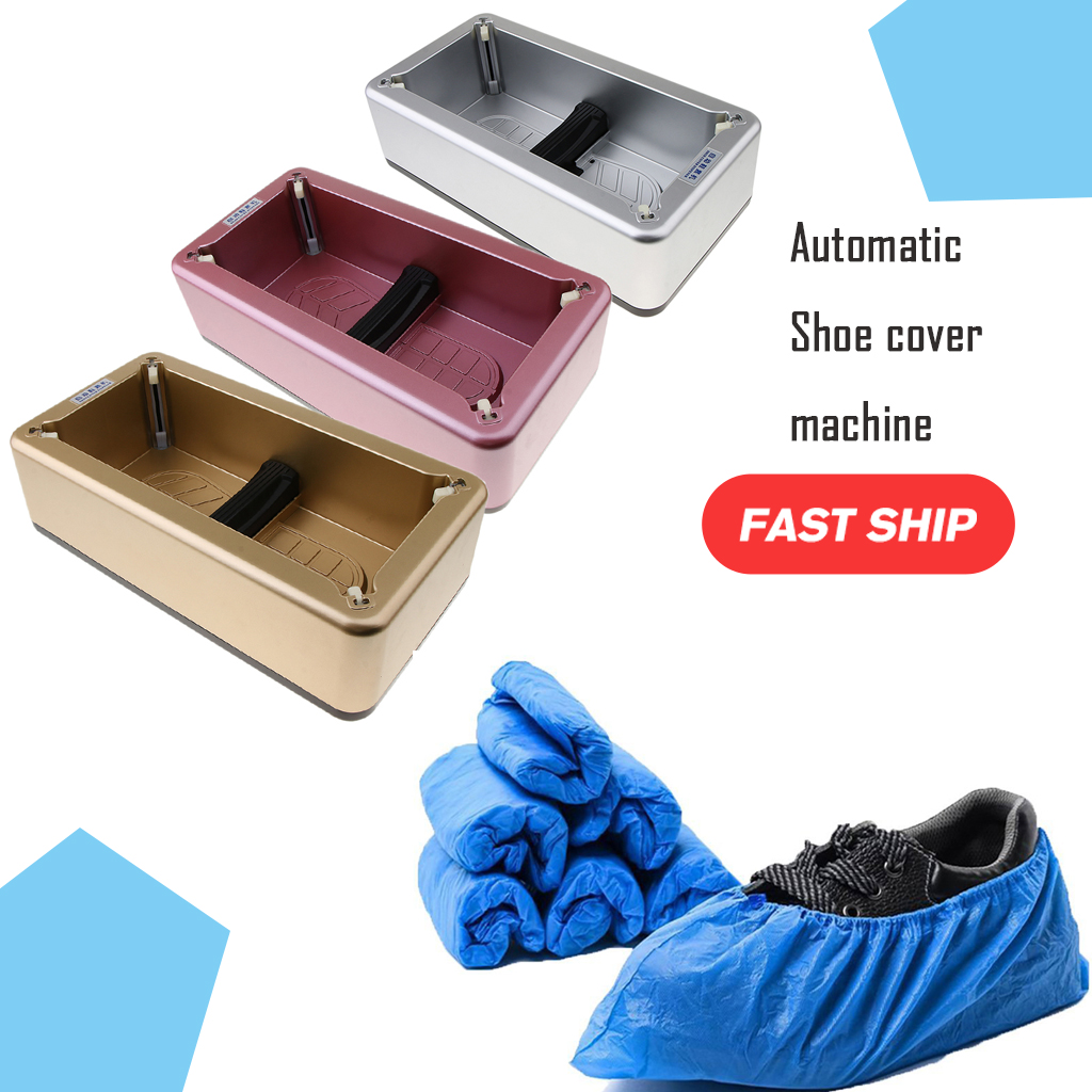 Automatic Shoe Cover Dispenser Machine Disposable Overshoe Dispenser Device Shoe Film Device Disposable Foot Cover