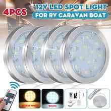 Foco LED redondo de 12V para caravana, iluminación Interior, lámparas de techo para autocaravana VW T4 T5, 4 Uds.