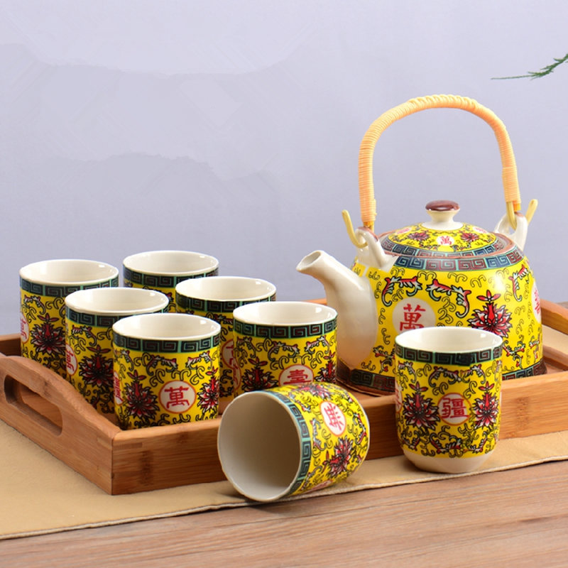 950ML Ceramic teapot  Tea Set Teapot Home Supplies Kitchen Bar Supplies