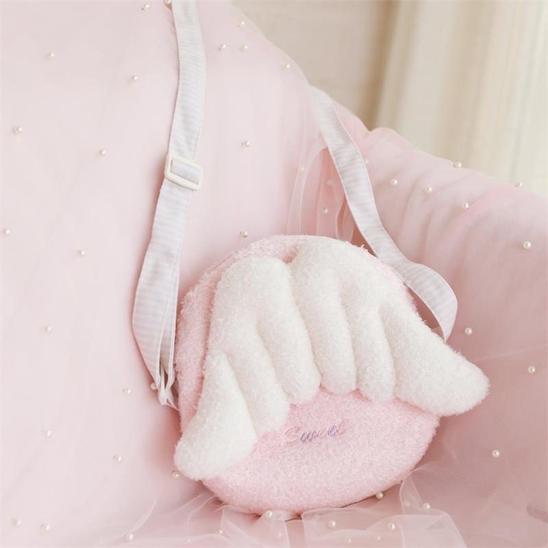 Pink GIRL'S Heart Angel Wings Backpack 2019 New Style Fashion Backpack Girl'S Students Cute Over-the-shoulder Bag