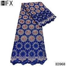 HFX Новое поступление швейцарская вуалевая хлопковая ткань с вышивкой из хлопка, швейцарская вуаль с бусинами для женщин