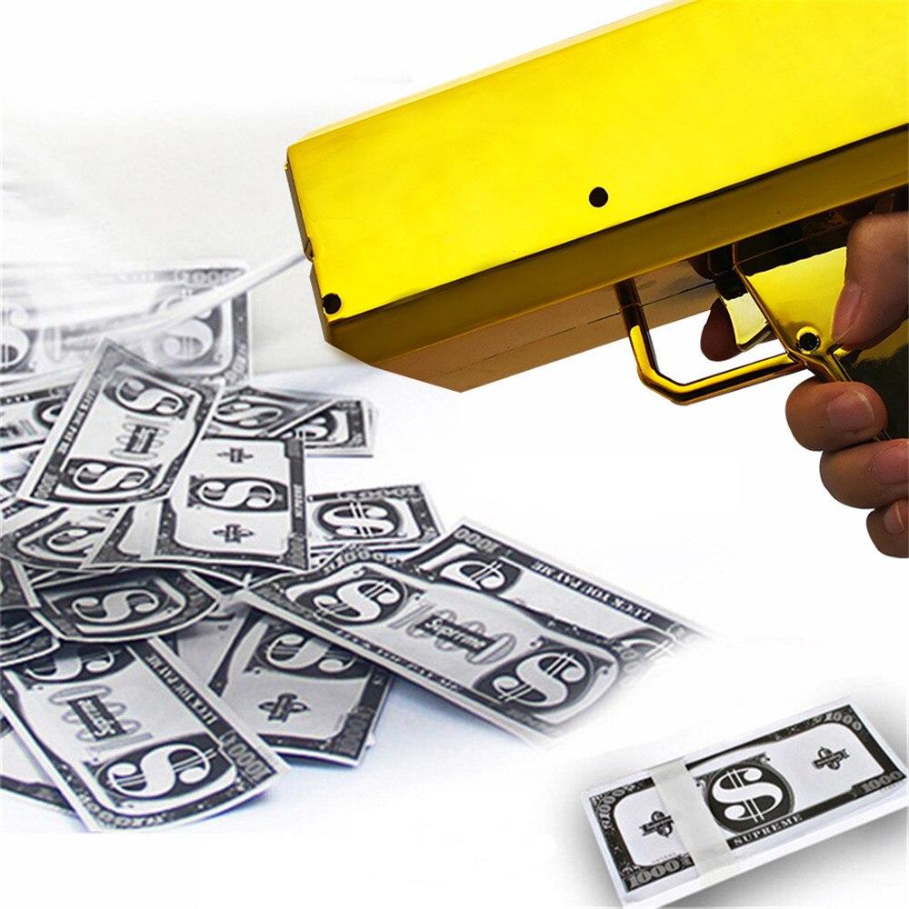 Pistola de billetes de banco para fiestas, accesorios de carnaval, Navidad, boda, cumpleaños, divertido, pistola de dinero, nuevo estilo, 2020