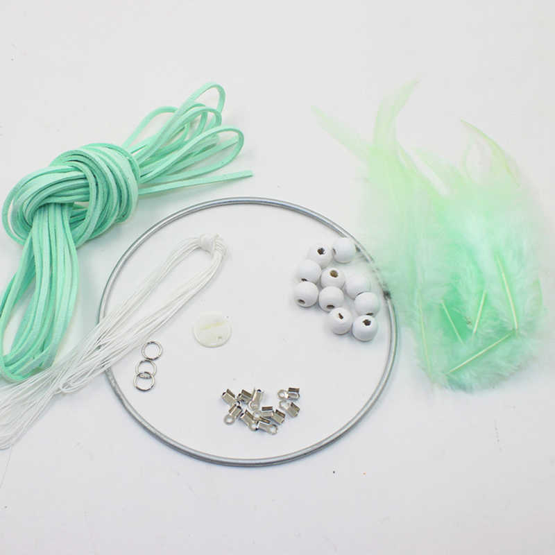 Art DIY Dream Catcher Kit Gift Feather Decoration Accessory Blue Fashion Ornament Home Decor
