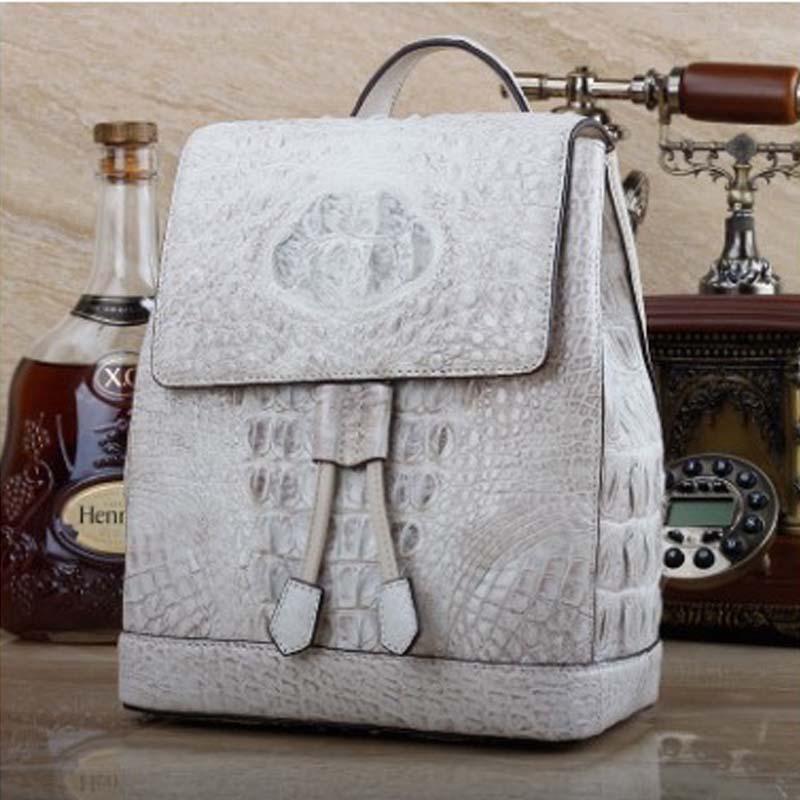 Ourui True  The Crocodile  Skin  Backpack   New  Women  Backpack  Travel Bag