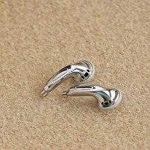 15.4mm odpinany MMCX Pin słuchawki 3 Way zbalansowane płaskie słuchawki DIY zestaw słuchawkowy srebrna muszelka Case Earbuds