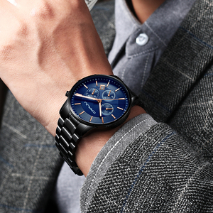Image 5 - CRRJU New Fashion Men Watch Classic Business Multifunction Chronograph Quartz Wristwatch Casual Waterproof Stainless Steel Clock