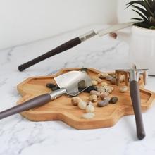 3 sztuk sukulenta narzędzie Mini z litego drewna mała łopata kopanie łopata ogrodnicza narzędzie do kwitnienia tanie tanio tuosen NONE CN (pochodzenie)