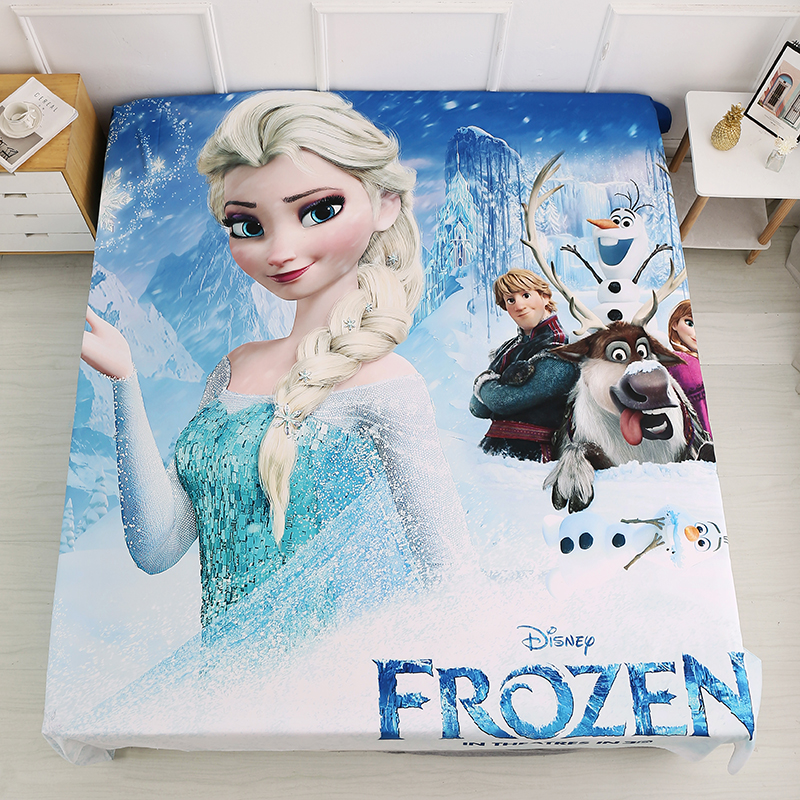 3D Cartoon Fabric Bedsheet Frozen Spiderman Mc Queen Flatsheet Bedsheet Mattress Cover for Boys Girls Children Bed