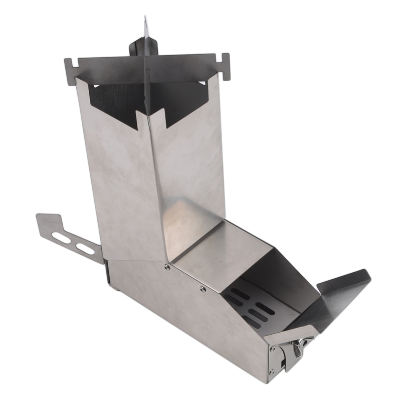 Lixada Wood Stove Lightweight Foldable Wood Stove Collapsible Wood Burning Stainless Steel Rocket Stove Picnic Cooking Oven image