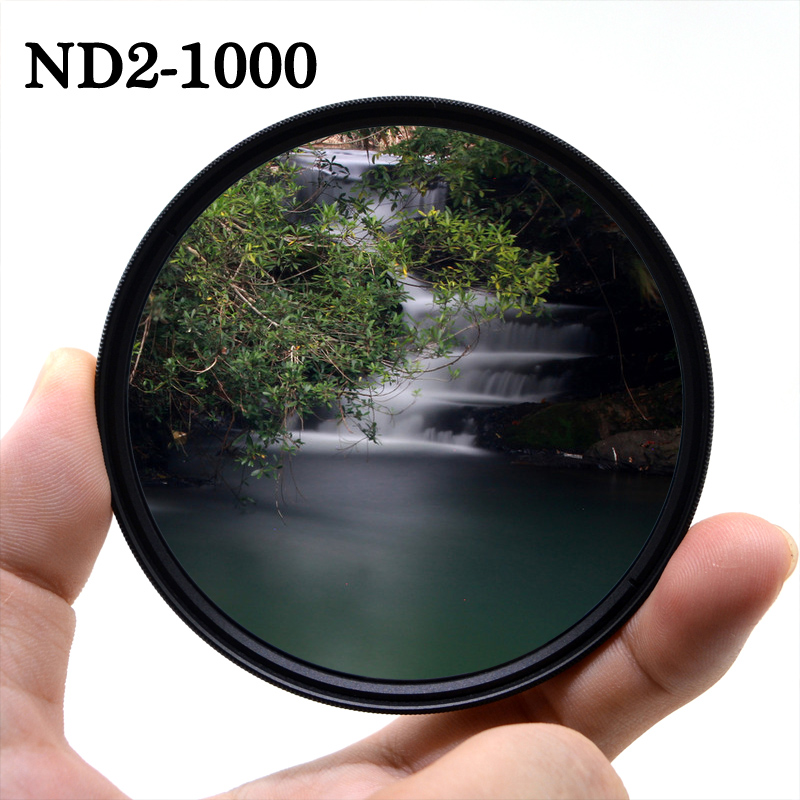 Регулируемый фильтр для объектива камеры KnightX ND2 to ND1000, с переменной нейтральной плотностью, для canon sony nikon 49 мм 52 мм 55 мм 58 мм 67 мм 77 мм